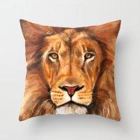 Iron Lion Throw Pillow