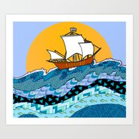 Sailing the High Seas Art Print