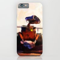iPhone & iPod Case featuring Wall-E & Eve - Painting Style by ElvisTR