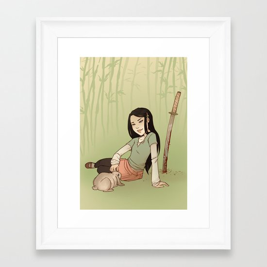 Usagi Framed Art Print