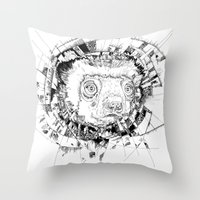 HYPNOTIZED Lemur Throw Pillow