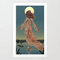 MoonFish Art Print