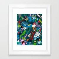 I Pattern Framed Art Print