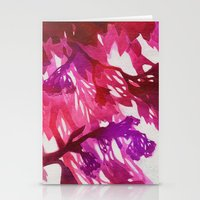 Morning Blossoms 2 - Magenta Variation Stationery Cards
