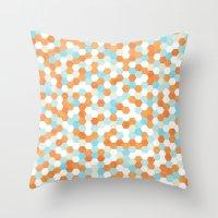 Honeycomb   Fish Bowl Throw Pillow