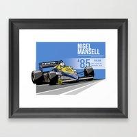 Nigel Mansell - 1985 Kyalami Framed Art Print