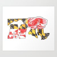 M for Maryland Art Print