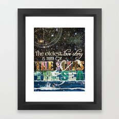 The Stars And The Sea Framed Art Print