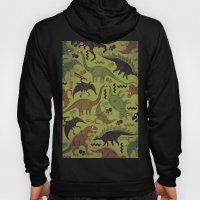 Camouflage Dinosaur Geometric Pattern Hoody