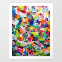 rainforest abstract 1 Art Print