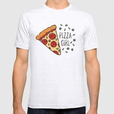 Pizza girl Mens Fitted Tee Ash Grey SMALL