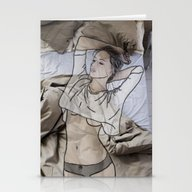 Stationery Cards featuring A Day In Bed by Laure.B