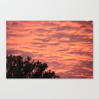 Burning Sunrise Canvas Print