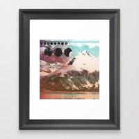 Mountainous Range Framed Art Print