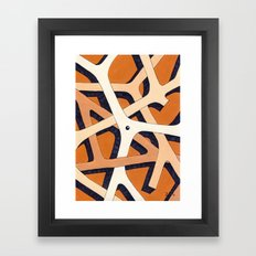 Mono Pattern   The Branches Framed Art Print