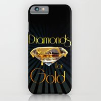 iPhone & iPod Case featuring Diamonds for Gold Minimal by Birdskull Studios