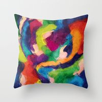 Modern Talking Throw Pillow