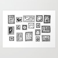Very Valuable Stamps Art Print