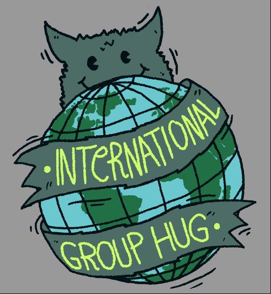 International Group Hug Art Print