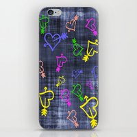 Hearts with Arrows iPhone & iPod Skin
