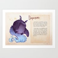 Real Monsters- Depressio… Art Print