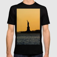 South Ferry Sunset Black SMALL Mens Fitted Tee