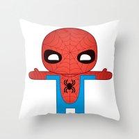 SPIDER MAN ROBOTIC Throw Pillow