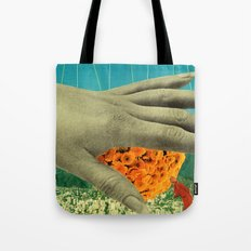 wake up and smell the flowers Tote Bag