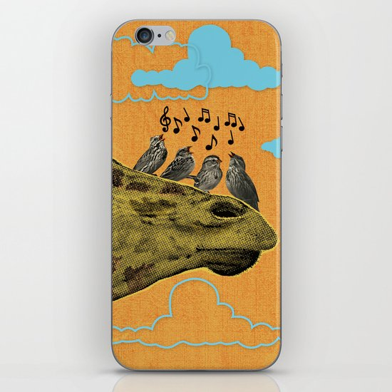 Giraffe & Singing Birds Print iPhone & iPod Skin