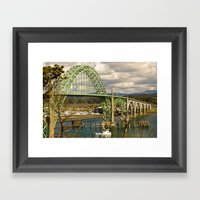 Siuslaw River Bridge, Fl… Framed Art Print