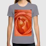 Softly Apricot Womens Fitted Tee Slate SMALL