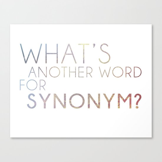 Dish Towel Synonym: What's Another Name For Synonym? Canvas Print By Avanston
