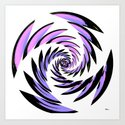 Tiger Tracks Purple Art Print