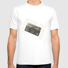 CAMERA Mens Fitted Tee SMALL White