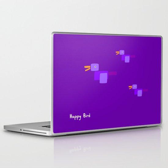 Happy Bird-Purple Laptop & iPad Skin