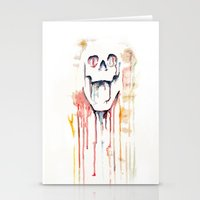 skull drips  Stationery Cards