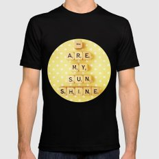 You Are My Sunshine Black Mens Fitted Tee SMALL