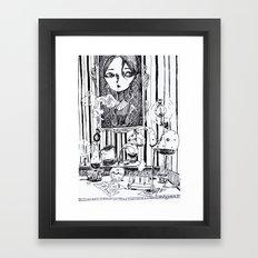 the study Framed Art Print