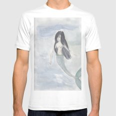 Mermaid Sister White Mens Fitted Tee SMALL