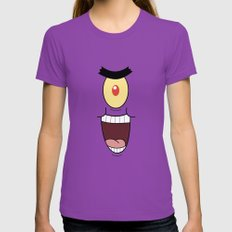 PLANKTON SPONGEBOB Womens Fitted Tee Ultraviolet SMALL
