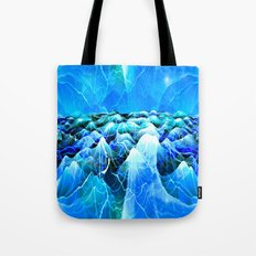 Data Sea (blue) Tote Bag