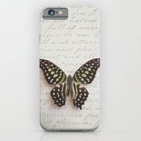 iPhone & iPod Case featuring Graphium agamemnon butterfly by Isabelle Lafrance Photography
