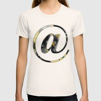 At Sign {@} Series - Bas… Womens Fitted Tee Natural SMALL