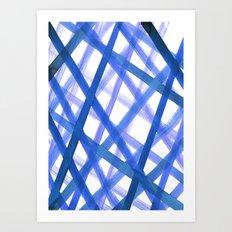 Criss Cross Blue Art Print