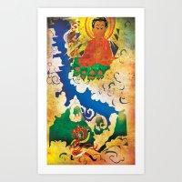 Sun Wukong Confronts Buddha Art Print