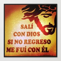 Sali con Dios Canvas Print