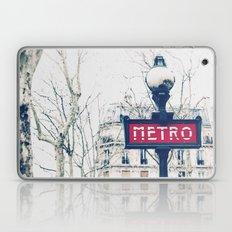 Paris Metro Sign Laptop & iPad Skin