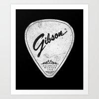 Legendary Guitar Pick Version 02 Art Print