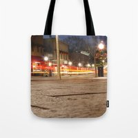 Downtown Blacksburg Christmas Tote Bag