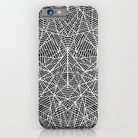 iPhone & iPod Case featuring Abstract Lace on Black by Project M
